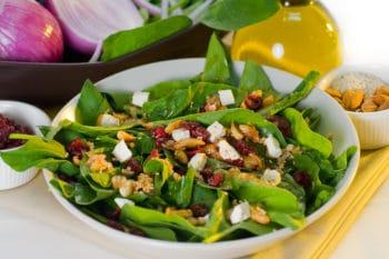 Salat mit öldressing
