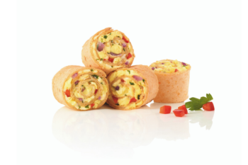 Mini Tortilla Rolls mit Eiern und Käse gefpllt