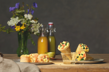 Breakfast Minis mit Spinatfüllung