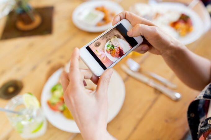 Snack fotografieren mit Smartphone