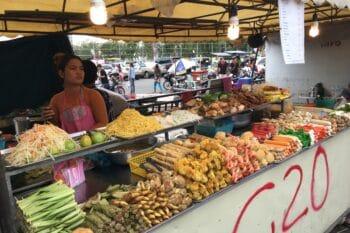 Street Food Stand Thailand Fleischspießchen