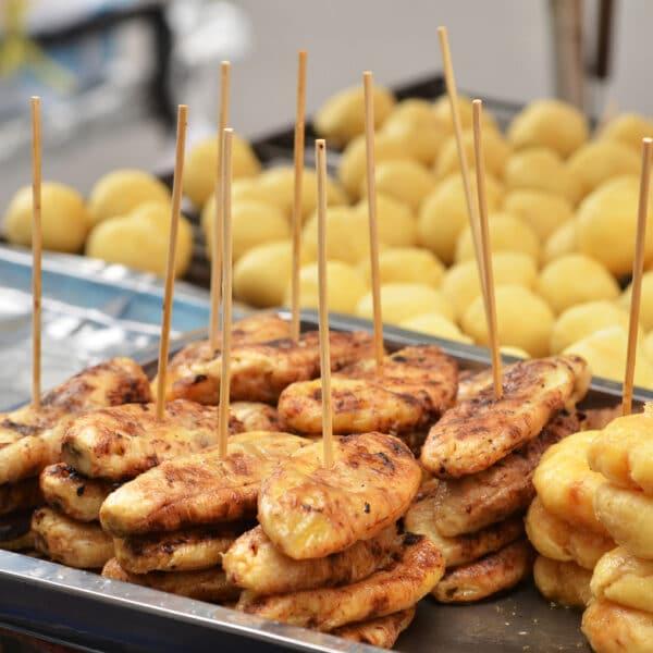 gebratene Bananen aus Thailand Steet Food