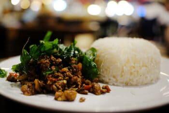 Thai Reis mit Hackfleisch