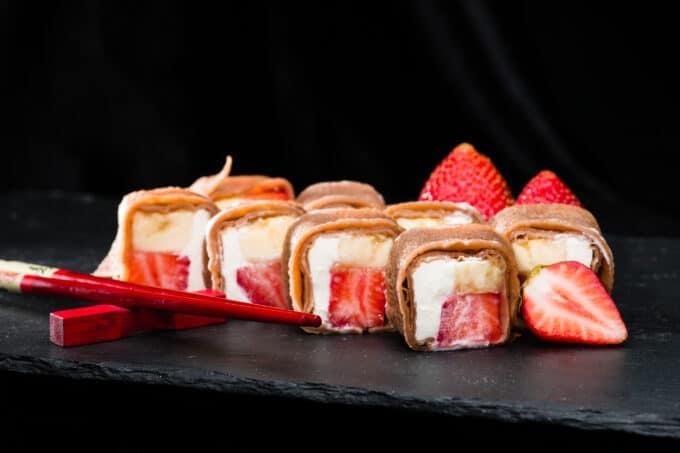 Frushi Frucht Sushi Erdbeeren |snackconnection