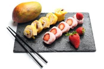 Sushi aus Früchten Frushi |snackconnection