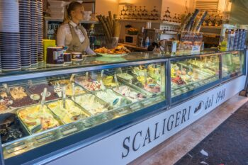 Gelato Eisdiele in Italien