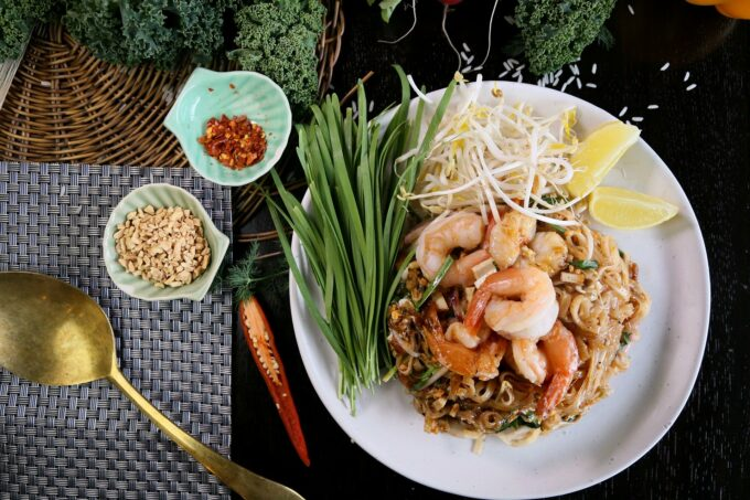 Pad Thai Nudel mit Gewürzen Chili