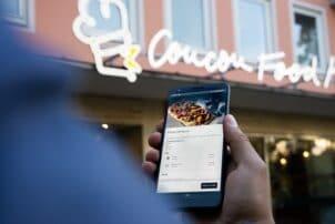 Smartphone Snackbestellung