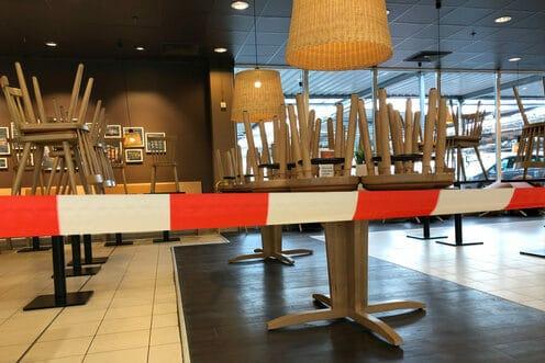 Restaurant geschlossen Coronakrise
