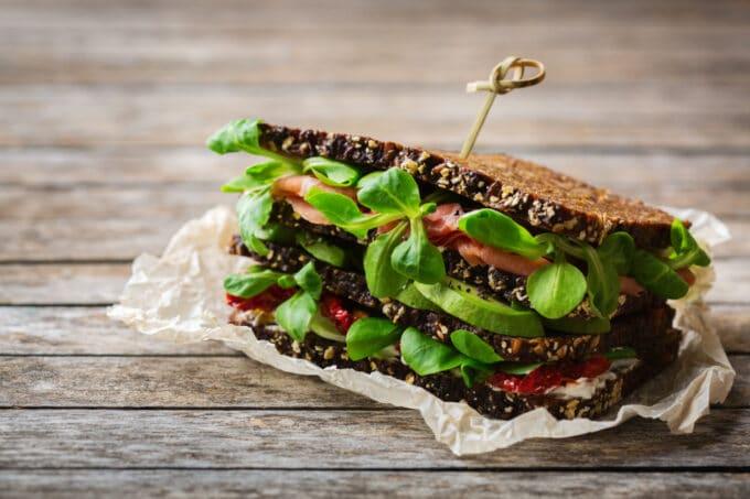vegetarisches Vollkornbrot
