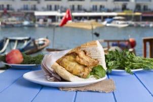 Türkei Fischbrötchen Street Food