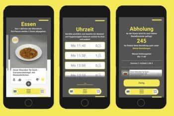 Fuktionen in einer App Smartphone