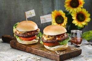 Sunwow Burger mit Sonnenblumenpatties