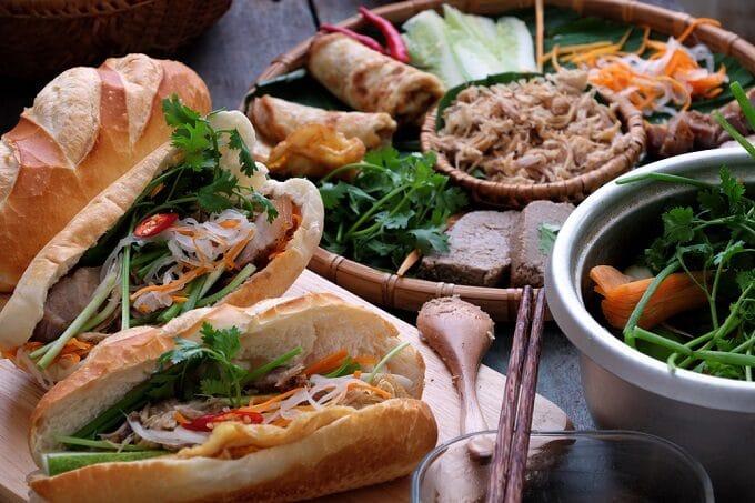 Vietnamesische Backwaren und Sandwiches