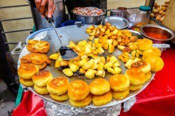 Aloo Tikki Kartoffelpuffer mit Blumenkohl