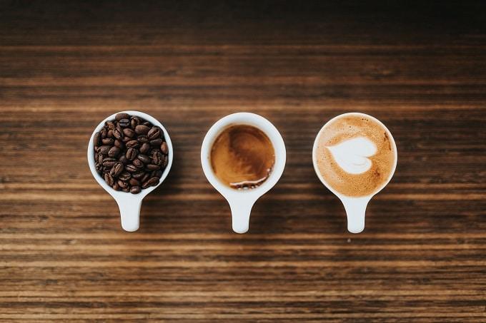 Kaffee Varianten Bohne Espresso Latte