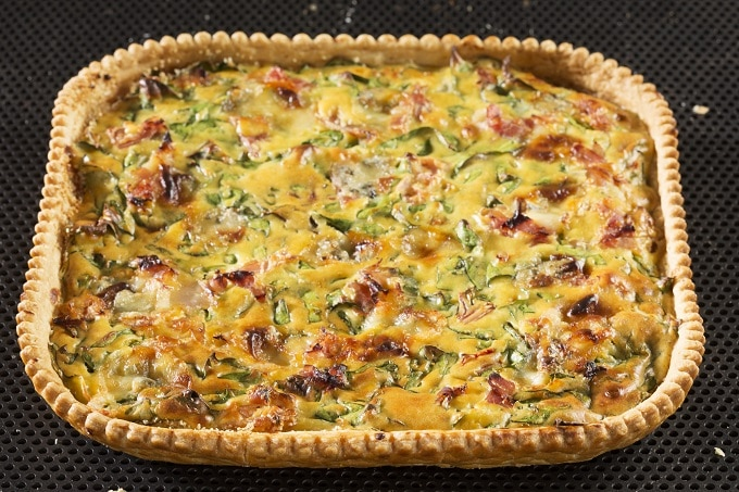 Spinat Schinken Quiche Smilde
