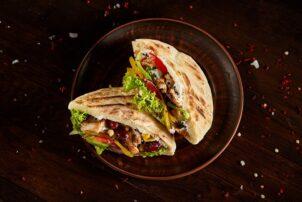 Döner Kebab in Pita Brot