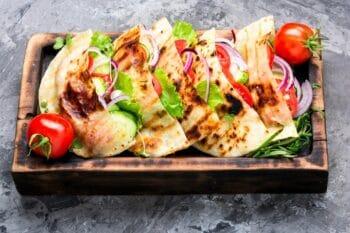 Vegetarische Döner in Pita Brot