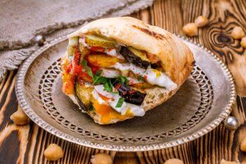 Vegetarischer Döner Kebab