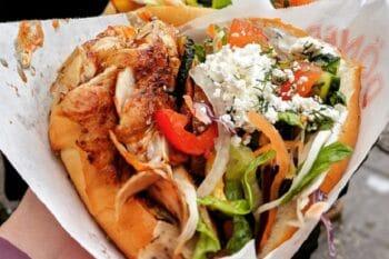 Döner Kebab To Go mit Gemüse