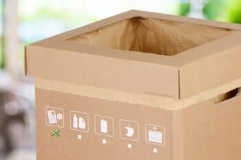 Verpackung Abfalleimer