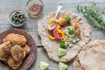 Vegetarische Falafel au Fladen