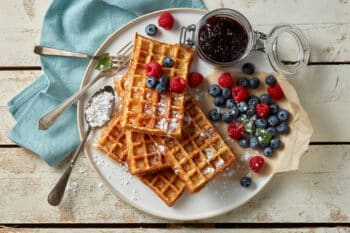 Frische Waffeln Teig Eifix I snackconnection