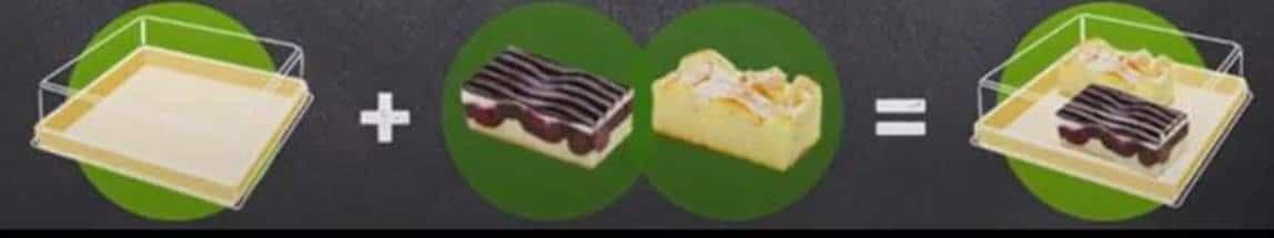 Grafik mit Kuchen zum Einpacken