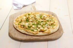 Vegetarische Pizza mit Champignons