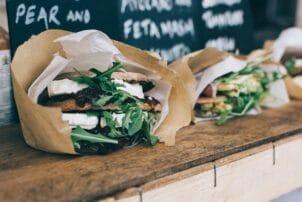Gesunde Sandwiches verpackt