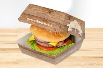 Burger Box mit individueller Beschriftung