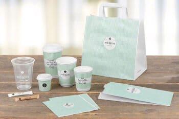 Individuelle Verpackungen wie Tüten und Becher