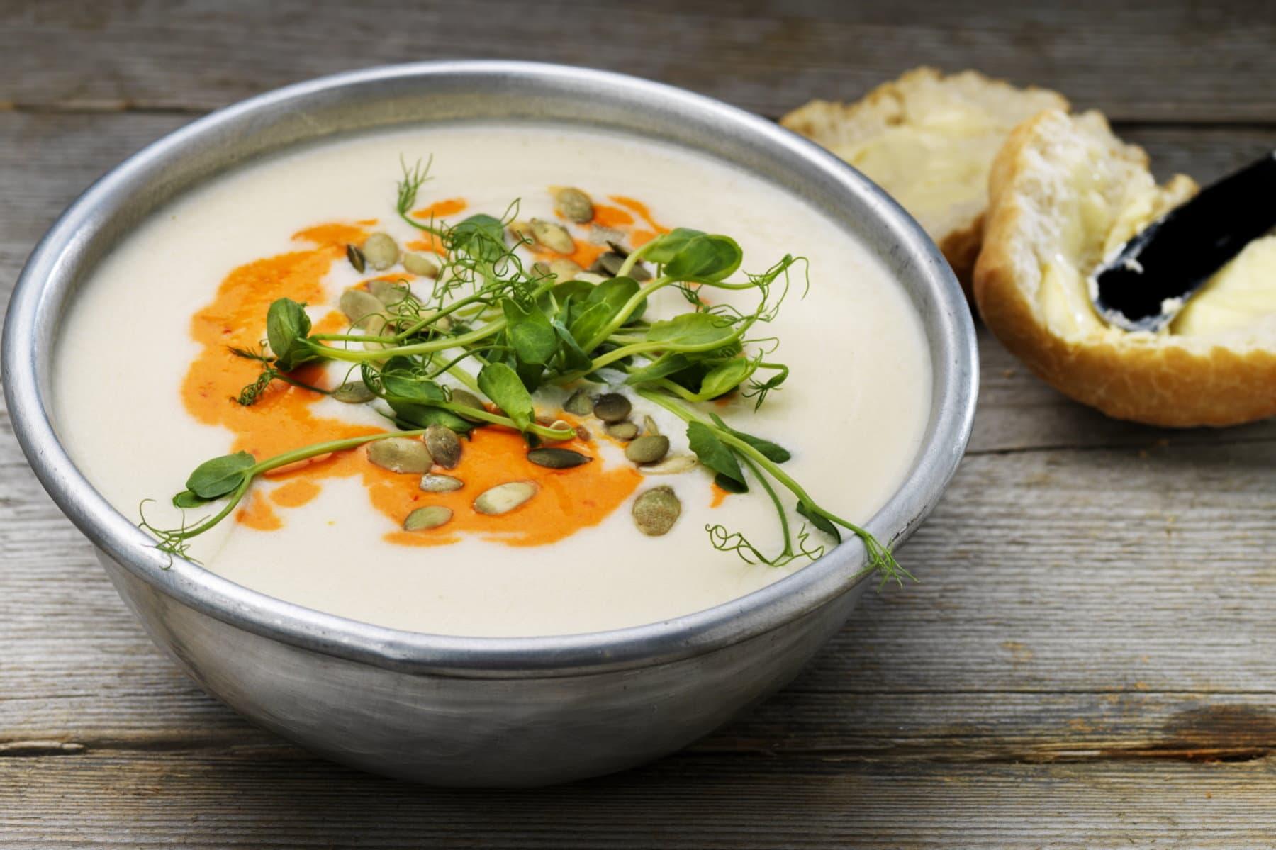 Suppen Gemüsepüree Blumenkohl Bestcon snackconnection