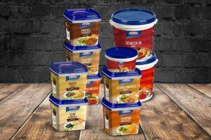 Homann Würzsaucen in Eimer-Verpackung snackconnection