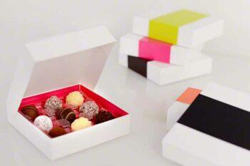 Pralinenverpackung mit Pralinen gefüllt von Rausch / snackconnection