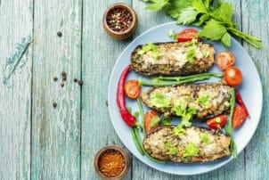 Auberginen Schnitzel vegan | snackconnection