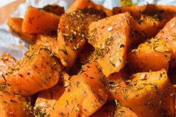 Süßkartoffelecken mit Gewürzen / snackconnection