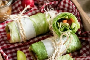 Eisbergsalatwraps mit Gemüse / snackconnection