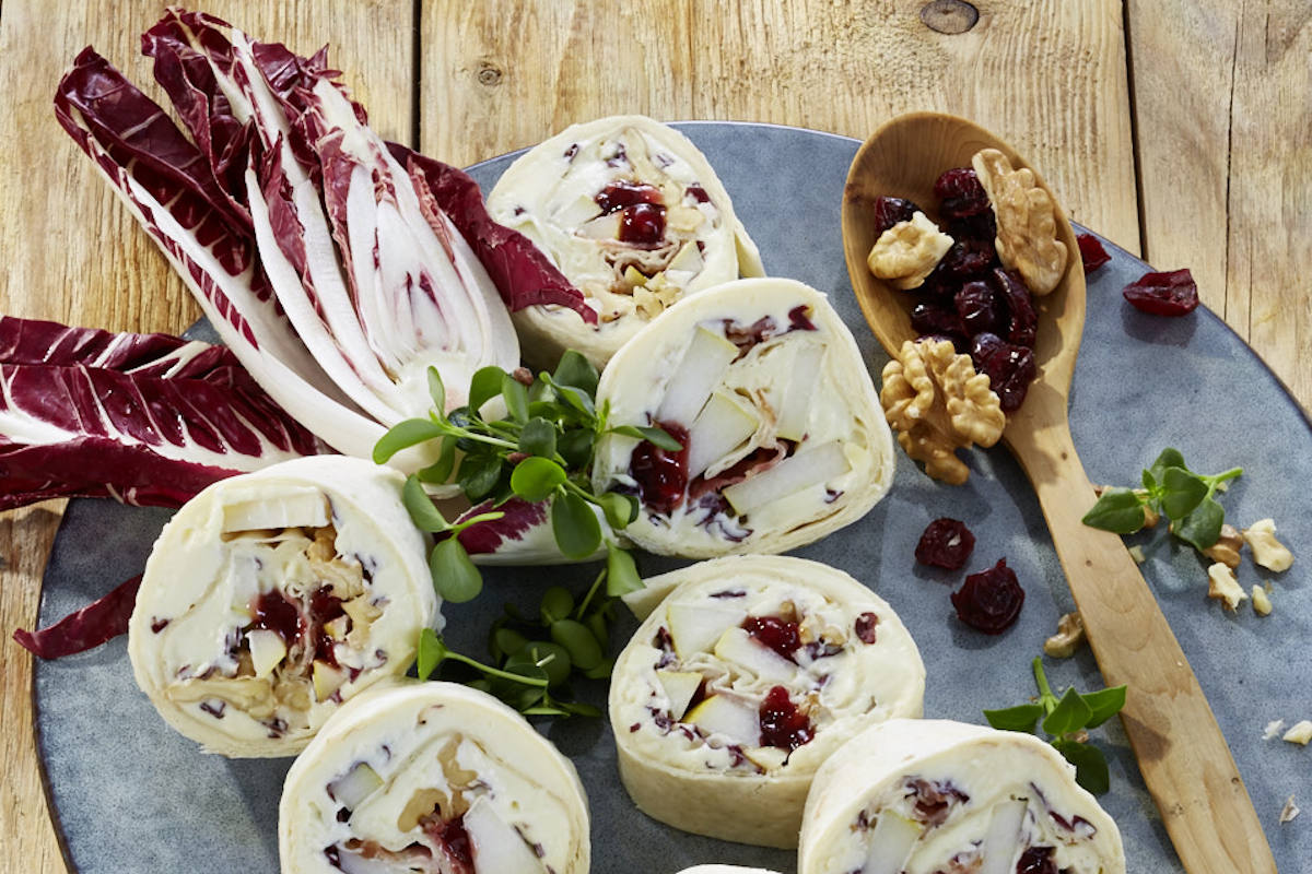 Waraps mit Camembertstreichkäse / snackconnection