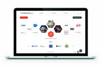 Bildschirm Laptop mit Inhalten von Intergastra digital 2021 / snackconnection