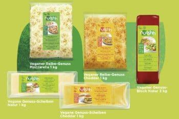 Verschiedene pflanzliche Käsealternativen von Bel Foodservice / snackconnection