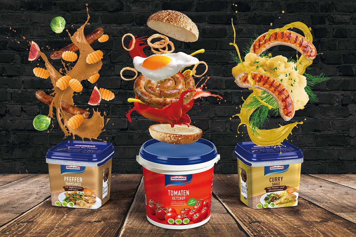 Homann Saucen im Eimer / snackconnection