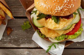 Veggie-Rührei Burger EIPRO Snegg | snackconnection