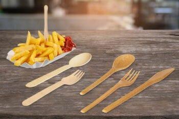 Holz Einmahl Besteck Rausch   snackconnection