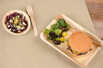 Palmblatt Geschirr Gastronomie   snackconnection