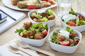 Süßkartoffel Falafel Salat