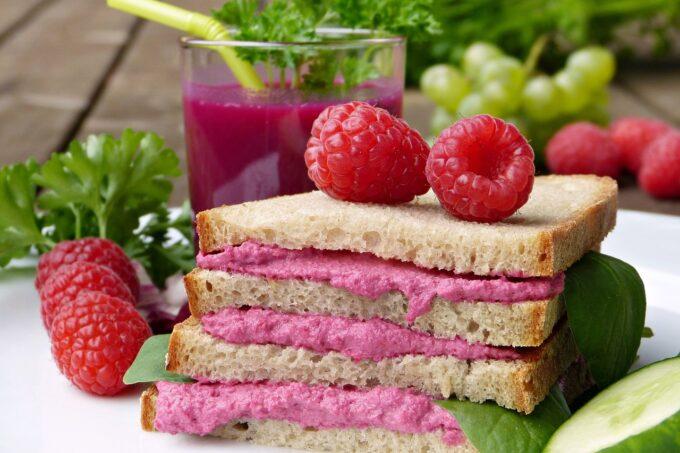 Sandwich Himebeere Aufstrich vegan