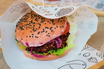 Veganer Burger USA Fast Food