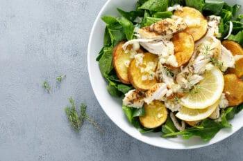 Kartoffel Hühnchen Salat